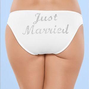 Just Married Bride bikini bottom